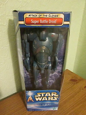 Star Wars AOTC Super Battle Droid 12 inch figure, Hasbro. Unopened. Free P&P!