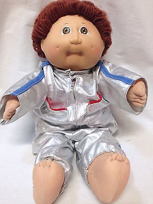 Vintage 1985 Coleco Cabbage Patch Kids Boy Doll Brown Hair Eyes #2 HM w/Clothes