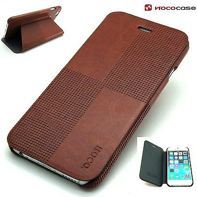 Leather HOCO CRYSTAL FASHION  Wallet Book case for APPLE IPHONE 6 PLUS- BROWN