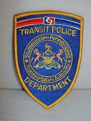 SEPTA Pennsylvania Transit Police Department Embroidered Patch - New & Unused