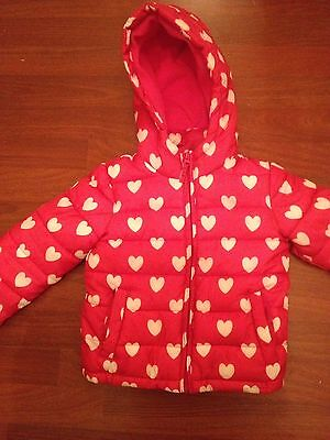 Red/white Girls Jacket. From Next. Age 5/6 Years. L��K��������