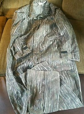 WALLS Coveralls Mens Size XL TALL Realtree Hardwoods Camo Non-insulated Cotton