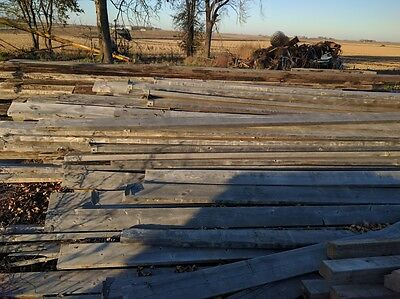 USED BRIDGE TIMBERS/ PLANKS Creosote-Treated 48' TRAILER LOAD-Buffalo Center, IA