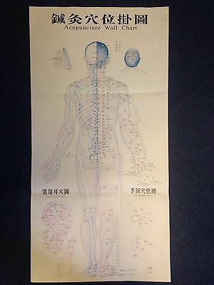 Original Acupuncture Wall Chart Poster