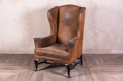 Vintage 1980S Wingback Armchair Suedette Pub Armchair Fireside Chair 2 Available