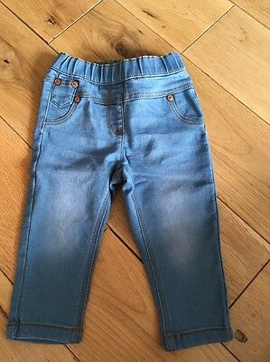 A Pair Of Next Girls Jeans Size 6-9 Months Brand New.