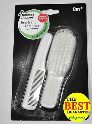New Tommee Tippee Essential Basics Baby Grooming Brush And Comb Hair Set 0m+