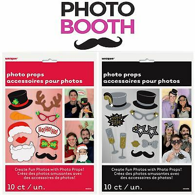 Xmas Christmas NEW Year Photo Booth Props SELFIE Party FUN Moustache LIPS Sticks