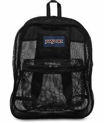 JANSPORT MESH PACK 32L BLACK BACKPACK 100% AUTHENTIC **BRAND NEW w/TAG!!