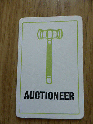 Totopoly Auctioneer Card,vintage 1949,waddington