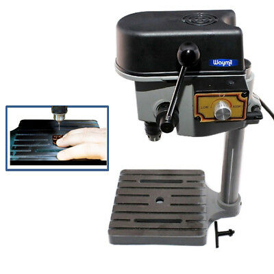 Mini Drill Press Bench Compact Jewelry Hobby Crafts Tool 3-Speeds Max 8500 Rpm
