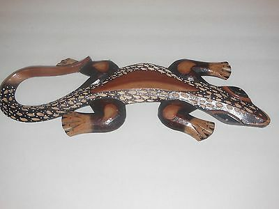 Gecko Style  Mix Color Handmade Wood Carved Art Wall Home Decor