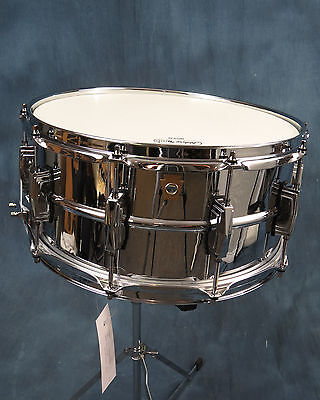 Ludwig LM402 Snare Drum 400 Series Supraphonic 6.5 x 14 Excellent Used Condition