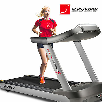"Sportstech F65 Profi Laufband 1600x600mm MP3 USB 7"" LCD-Display 25km/h 8,5PS"