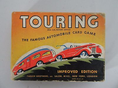 Parker Bros 1937 TOURING - the Famous Automobile Card Game Improved Edition