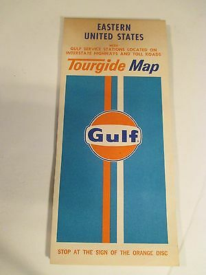 Vintage GULF EASTERN US Oil Gas Service Station Road Map~#1