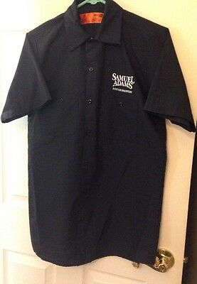 SAMUEL ADAMS Beer BOSTON BREWERY Embroidered Button-Down (S) Shirt w/ Pockets