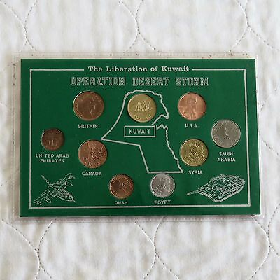 Operation Desert Storm 9 Coin Uncirculated Tribute Set