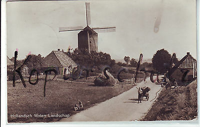 AK Windmühle, Hollandsch Molen Landschap, 1940