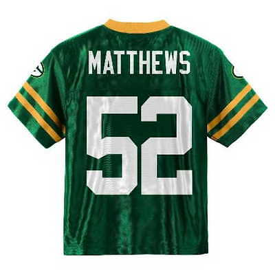 2018 2019) GREEN BAY Packers CLAY MATTHEWS nfl Jersey YOUTH KIDS