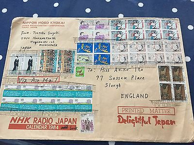 Amazing letter from Japan Broadcasting to Slough UK, very rarely seen like this
