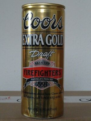 Coors Extra Gold - Salutes Firefighters 1993, 16 oz, Leer