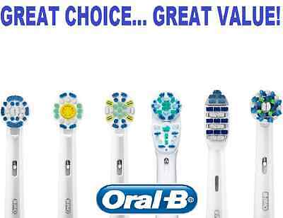 Genuine Braun ORAL B electric replacement brush heads (CHOOSE YOUR BRUSH HEAD)