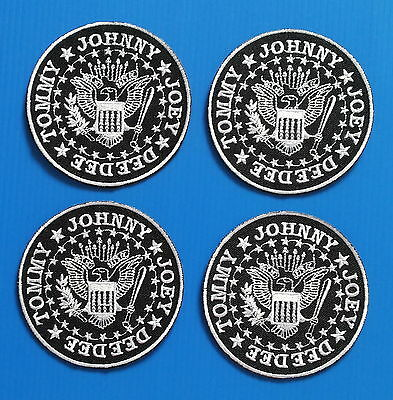 4 LOT RAMONES OLD TYME PUNK  Embrodered Iron Or Sewn On Patches Free Shipping