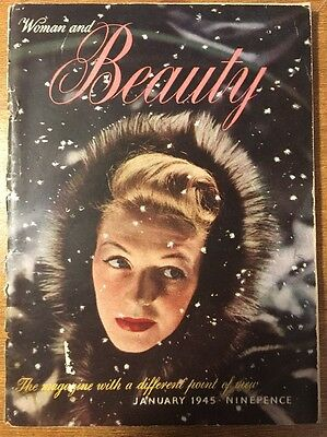 Vintage Woman And Beauty Magazine, 1940s (Jan 1945)