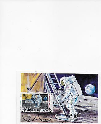 Usa Postcard  Moon Landing