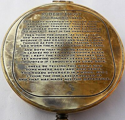 Vintage Antique Robert Frost Poem Compass. C-3142 NEW FREE SHIPPING