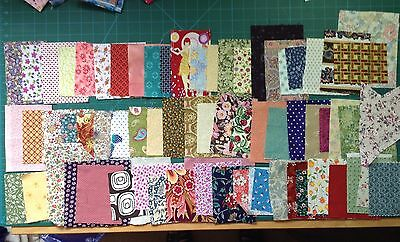 45  Fabric scraps 100% cotton some Laura Ashley patchwork quilting