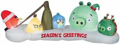 """Christmas 10"""" W Angry Birds Lighted Airblown Inflatable Holiday Yard Decor"""