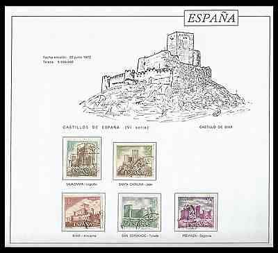 1972 Castles, Architecture, monuments, in used, complete series
