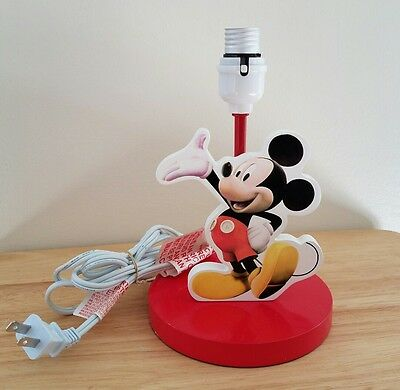 Collectible Disney Mickey Mouse Kid's Lamp with No Shade - Rare