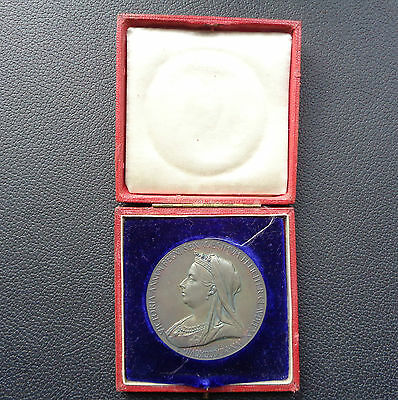 Medal, Queen Victoria Diamond Jubilee, Official Issue, Silver, Large 56Mm, 1897