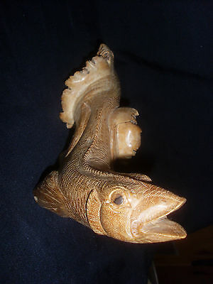 Wooden Fish Carving