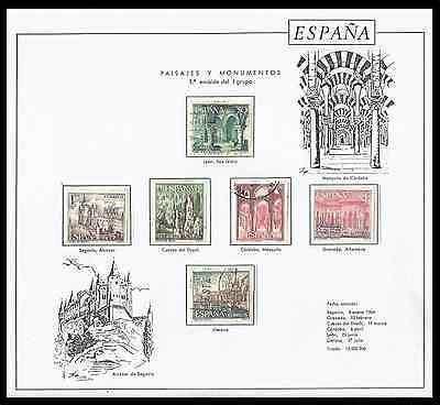 Stamps Spain, 1964 Tourist Landscapes and Monuments series