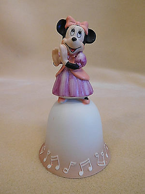 Disney Minnie Mouse Collectible Porcelain Figurine Bell