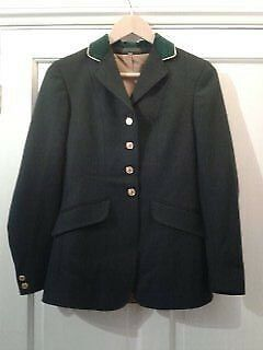 Shires riding/ show jacket green size 32 ( 6-8)