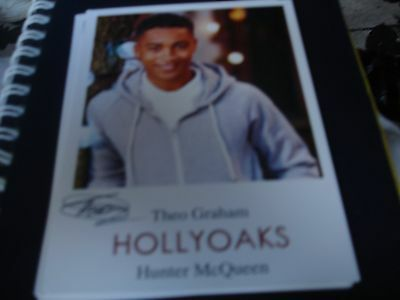 BRAND NEW  PRE PRINTED HOLLYOAKS CAST CARD OF THEO GRAHAM AS HUNTER  McQUEEN