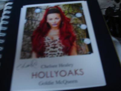 BRAND NEW  PRE PRINTED HOLLYOAKS CAST CARD OF CHELSEE HEALEY AS GOLDIE McQUEEN