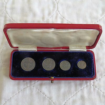1907 EDWARD VII SILVER 4 COIN MAUNDY SET - dated box