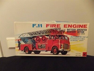 Fire Truck   Made In Japan Batteri Operated Org Box