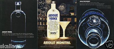 2004 Print Ad of Absolut Vodka Origin Midnitini and Discernment 3 DIFFERENT ADS