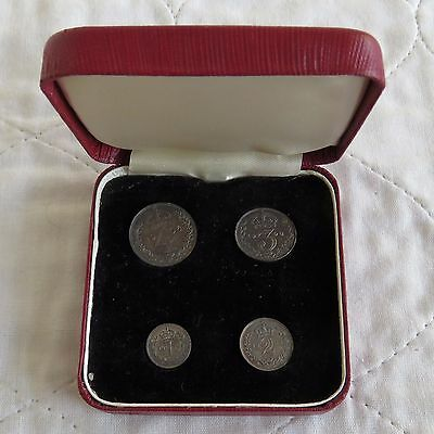 1906 EDWARD VII SILVER 4 COIN MAUNDY SET - boxed