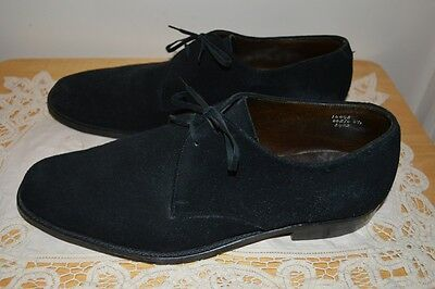 Vintage Horrell of England Black Suede Lace Up Shoes UK Size 8.5