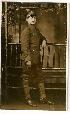 vintage photo pc YOUNG MAN American SOLDIER  ww1