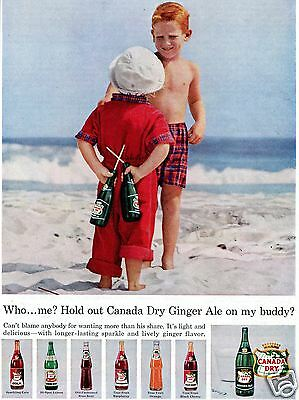1957 Canada Dry Ginger Ale Print Ad
