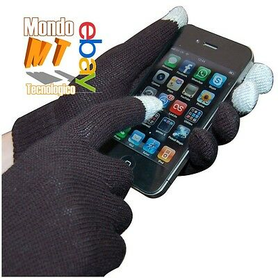 Guanti gloves touch screen lana con punta capacitiva per cell, e tablet